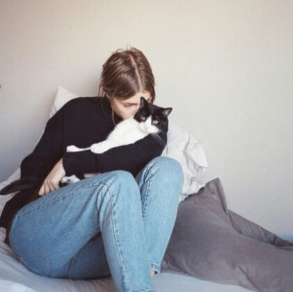 Girls with their cats by Brianne Willis
