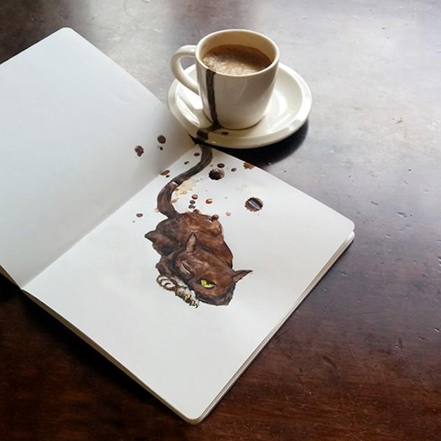Coffee cats by Elena Efremova