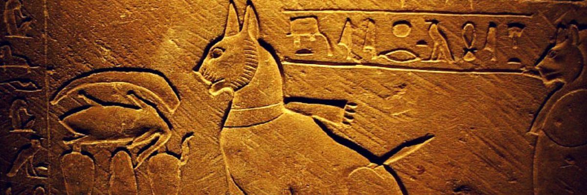 Ritratto di gatto sul sarcofago del principe Thutmose, Diciottesima Dinastia