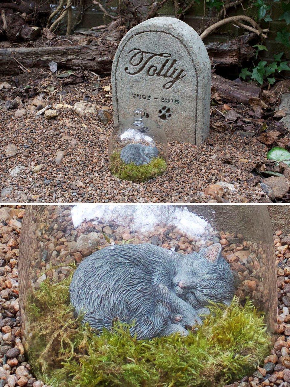 Il luogo di sepoltura di Tolly, the Topiary Cat
